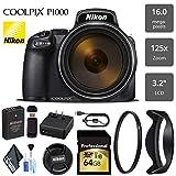 #3: Nikon COOLPIX P1000 Digital Camera 16MP 125x Optical Zoom & Build in Wi-Fi + UV Protection Filter - International Version