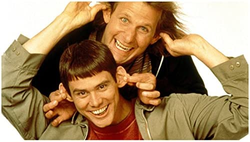 Dumb Dumber 1994 8 Inch X 10 Inch Photograph Jim Carrey Jeff Daniels Way Too Happy About Grabbing Ears Kn At Amazon S Entertainment Collectibles Store