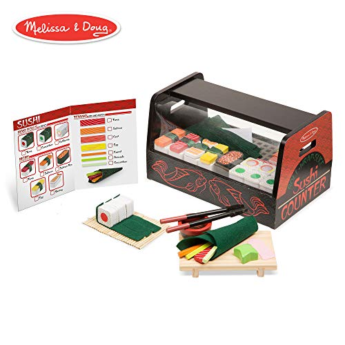 Melissa & Doug  Roll, Wrap & Slice Sushi Counter Toy -
