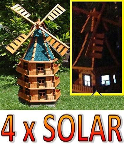 Oelbaum Ölbaum Molino de Viento con Solar de iluminación de jardín ...