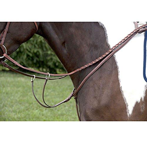 Pony Martingale - Exselle Plain Rsd Breastplate w-Run Martin Attach Black Pony