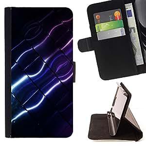 - Color Lines/ Personalizada del estilo del dise???¡¯???¡Ào de la PU Caso de encargo del cuero del tir???¡¯????n del s - Cao - For Samsung Galaxy Note 4 I
