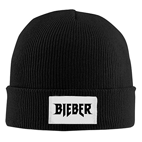 Justin Bieber Purpose World Tour Bieber Beanie Hats For Men Women Black (4 (Dancing With The Stars Halloween Special)