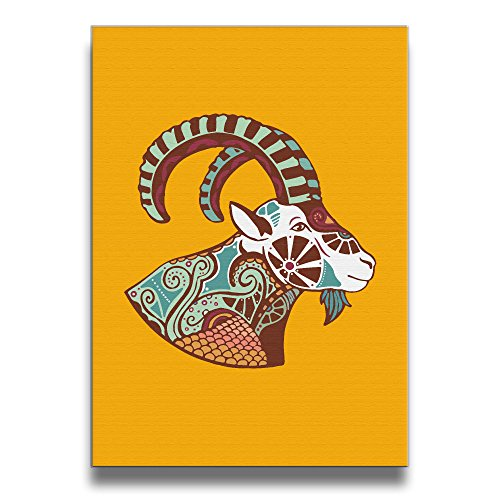 Antelope Horns Costume (FORBIG Lucky Tibetan Antelope Art Print Wall Picture Decorative Painting 16