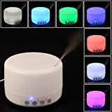 Lumcrissy 500ml Aroma Diffuser Ultrasonic Humidifier LED Color Changing Lamp Light Ionize And 3 Time Setting