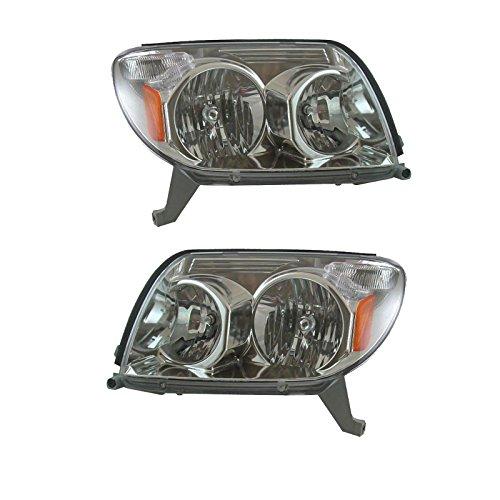 Headlights Headlamps Left & Right Pair Set for 03-05 Toyota 4Runner