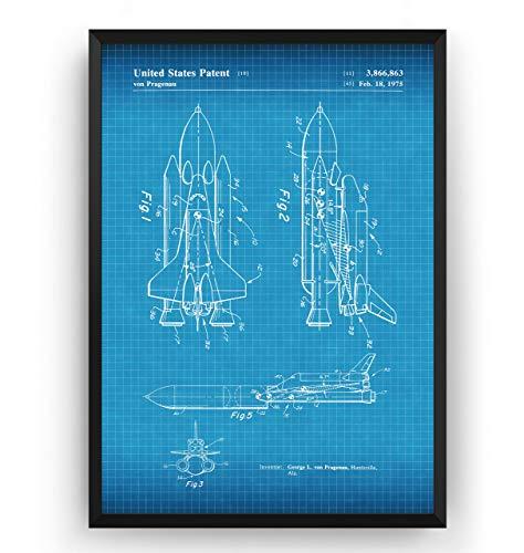 A3 A2 A1 A0 Framed Space Shuttle Patent Gift Present Decor Art Poster Print