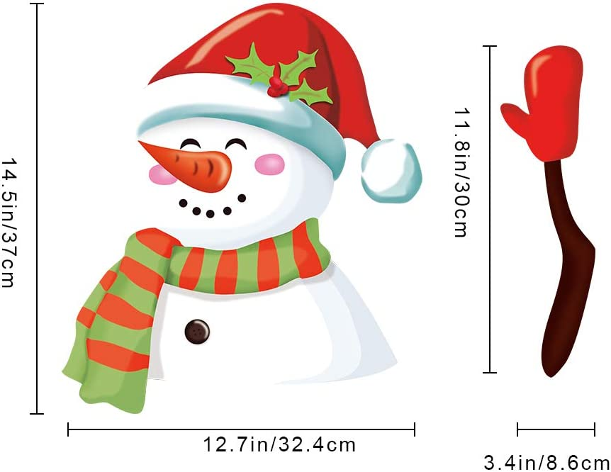 ZAILHWK Christmas Rear Wiper Decal Car Window Stickers and Decals for Vehicle Rear Wipers Xmas Decoration