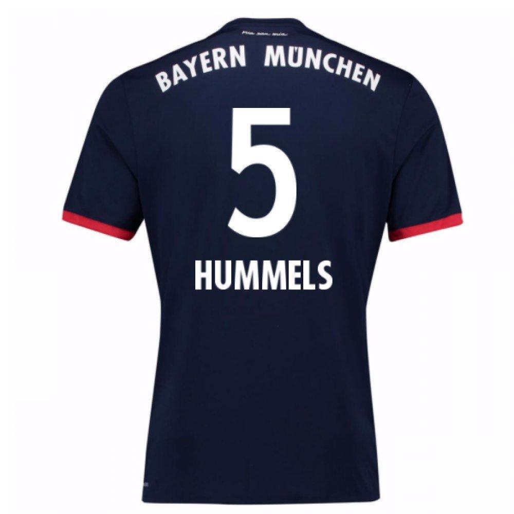 2017-18 Bayern Away Shirt (Hummels 5) B0784BM47GNavy Medium 38-40\