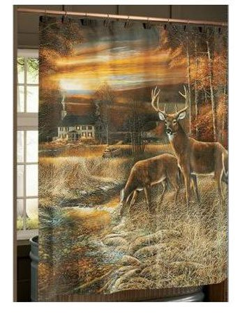 Image Unavailable Not Available For Color Blonder Autumn Tranquility Deer Shower Curtain