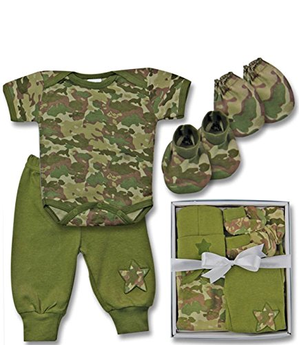 Mon Cheri Layette Gift Set, Camo (5-Pieces)