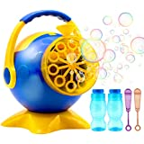Portable Bubble Machine - Yaho Automatic Bubble Blower with 2 Bottles of Bubbles Solution - Powered by Both Plug-in or Batteries Outdoor/Indoor Use - Over 800 Bubbles per Minute