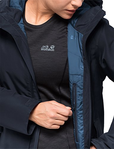 Impermeabile nbsp;chilly Jack Invernale W Wander Morning nbsp;– Antivento Giacca Protezione Intemperie Dalle Midnight Jkt Blue Wolfskin Traspirante EExqzw1