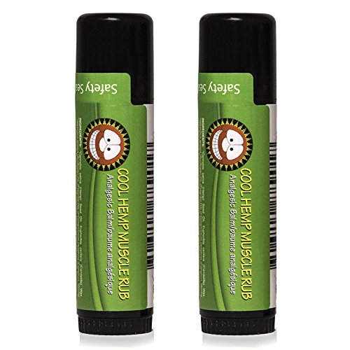 Merry Hempsters Muscle Rub, 0.6 Ounce, Made in The USA, Vegan Certified (Cool, 2 Pack)