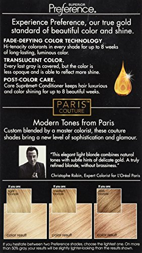 L Oreal Paris Superior Preference Hair Color Parisian Couture Pc29 Light Pearl Blonde Buy