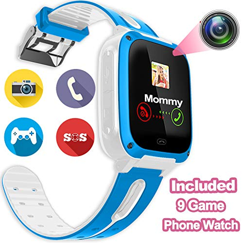 Cheap Kids Phone Smart Watch – Kids Smartwatch for Boys Girls Included 9 Game Touch Screen Camera SOS Bracelet Learning Toys Sport Outdoor Digital Wrist Cellphone Watch Bracelet for Summer Holiday Gift