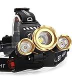 1101 type light flashlight - LED Headlamp, Waterproof Zoomable 30000 LUMENS 3X XML T6 LED Headlight Flashlight Torch Lamp 2X 18650 Battery Rechargeable 90-Degree Adjustable