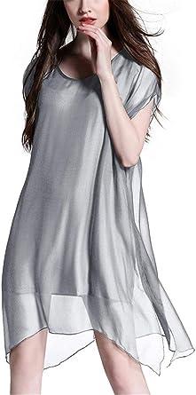 Elegancka damska letnia sukienka z krÓtkim rękawem, asymetryczna w stylu vintage, sukienka na bal, na imprezę, z szyfonu, odświętna sukienka, modna, unikatowa, sukienka mini: Odzież