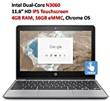 HP 11.6 Inch HD IPS Touchscreen Chromebook 2018 (Small Image)