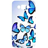 Casotec Flying Butterfly Colorful Design Hard Back Case Cover for Samsung Galaxy E7