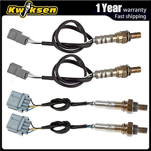 Kwiksen 4Pcs Air Fuel Ratio Oxygen Sensor 1 Sensor 2 Bank 1 Bank 2 Upstream  Downstream Pre-Cat Post-Cat Replacement For 2003-2007 Honda Accord EX LX