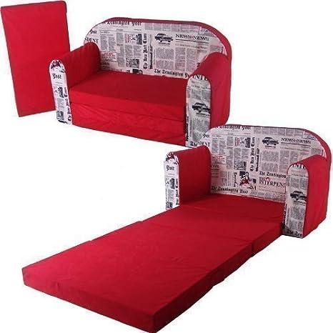 toys4u Sofa-Cama 100x172cm Sofa con Dibujos Niños Colchón Plegable Cama de Invitados Sofá-Cama Colchón Plano - Diseño color 2