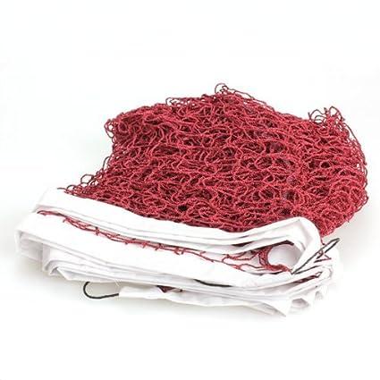 broadroot nueva formación profesional de resistente malla cuadrada estándar Red de bádminton, rojo