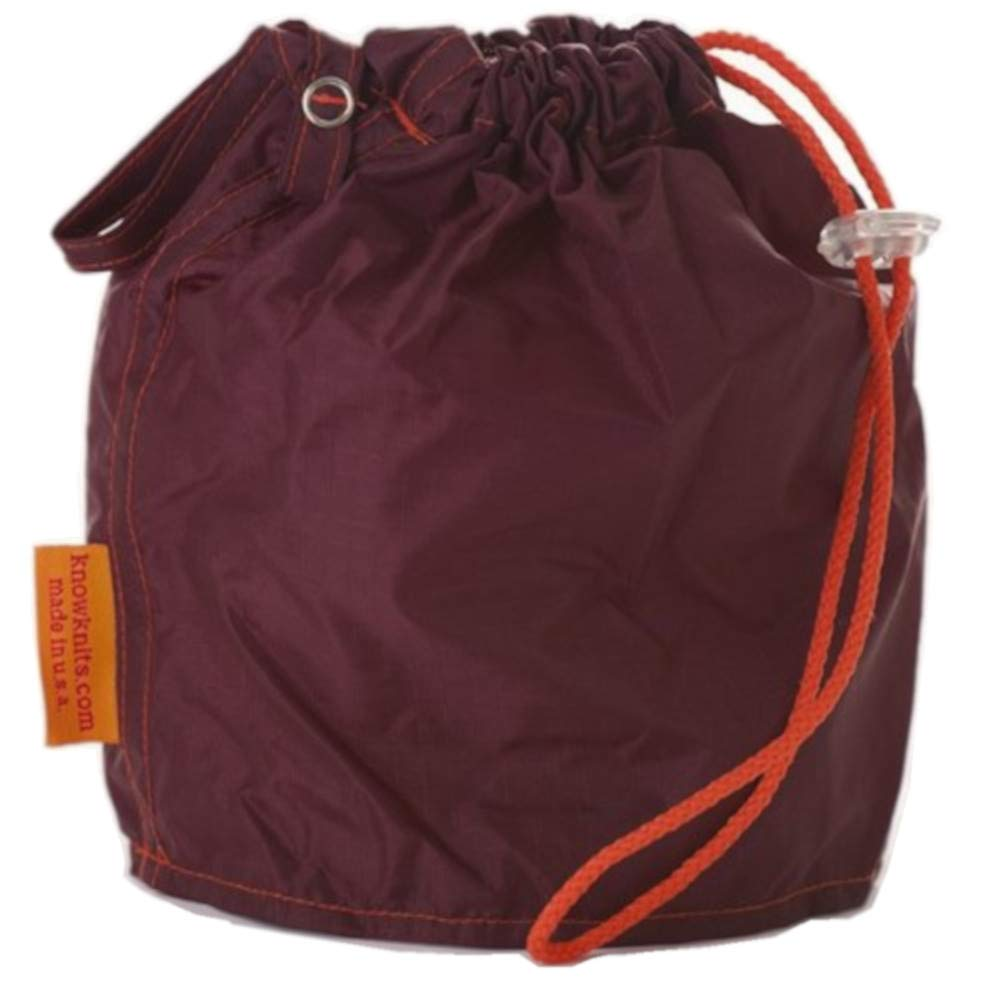 KnowKnits Maroon Small GoKnit Pouch Project Bag w/Loop & Drawstring