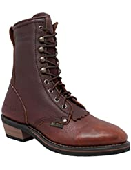 Adtec Womens 8 Packer Black/Dark Cherry Work Boot
