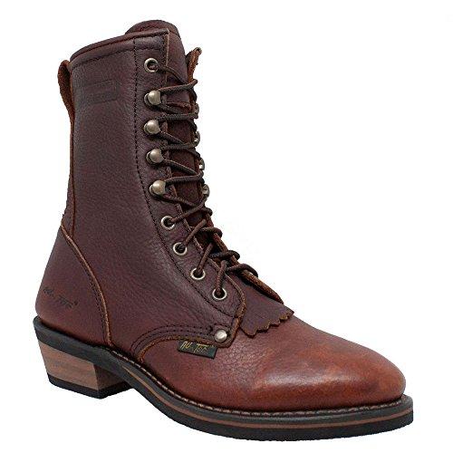 "Adtec Women's 8"" Packer Chestnut Work Boot Brown"
