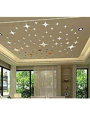 ملصقات جدران عاكسة بعبارات بشكل نجوم تعطي صورة ثلاثية ابعاد يمكنك تنسيقها بنفسك لتزيين سقف الغرفة كما يمكن ازالتها