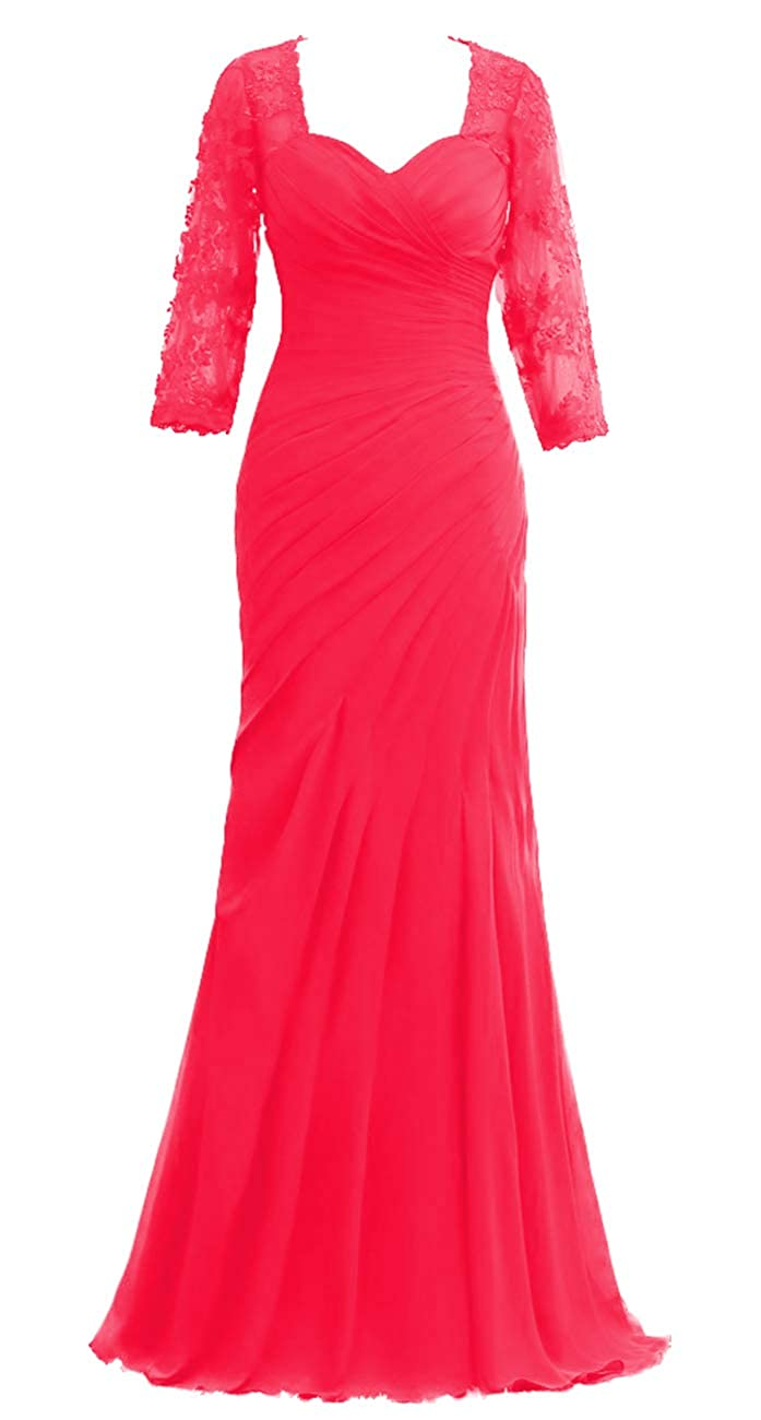 Fuchsia JAEDEN Mother of The Bride Dresses Long Sleeves Evening Gowns for Women Formal