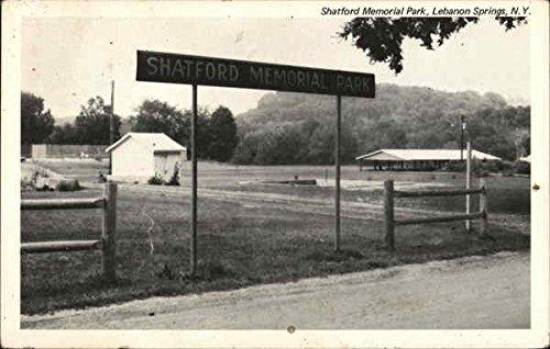 Shatford Memorial Park Lebanon Springs, New York Original Vintage Postcard