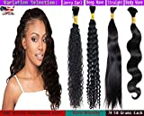 Ustar hot selling High GRADE Bulk Hair for Micro Braiding 100 REMY Virgin Hair Can be Dyed Bleached ABSORBS Color Well Deep Wave Curly great deal 1 bundle pack, 100g/bundle Natural Black 20'