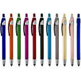 Stylus for touch screens Pen with Ball Point Pen,for Universal Touch Screen Devices, for phones, Ipads,Tablets, iphone, Samsung Galaxy etc.,Assorted Colors (12 Pack)