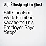 Still Checking Work Email on Vacation? This Employer Says 'Stop' | Michael Alison Chandler