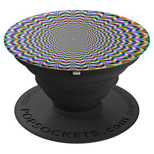OPTICAL ILLUSION Pop Socket Spiral Moving Trick Off Center - PopSockets Grip and Stand for Phones and Tablets