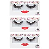 LashXO Lashes- Lexi Luxe Brown -3pack Premium Quality False Eyelashes- Compare to Shu Uemura, MAC Cosmetics, Make up for Ever, and House of Lashes