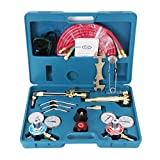 oxy cutting hoses - F2C Gas Welding& Cutting Brazing Torch Kit Oxy Oxygen Acetylene Welder Tool Set with Portable Case