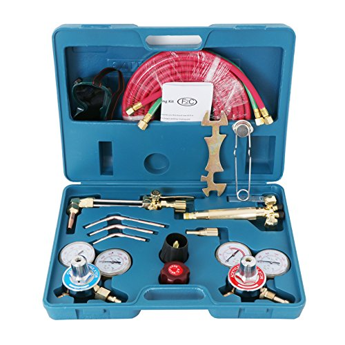 F2C Gas Welding& Cutting Brazing Torch Kit Oxy Oxygen Acetylene Welder Tool Set with Portable Case