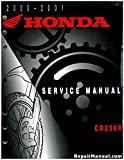 61KZ361 2000-2001 Honda CR250R Motorcycle Service Manual