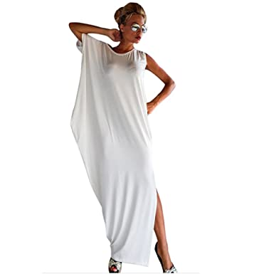 104f63eea16 jilongshi Robe Longue Femme Été Robe Fendue Robe de plage Longue Robe de  Soiree Robe Cocktail