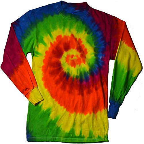 (DARESAY Tie Dye Style Long Sleeve T-Shirt, Moondance,)