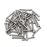 uxcell 50pcs Silver Tone Stainless Steel Motorcycle Hexagon Bolts Hex Screws M6 x 45