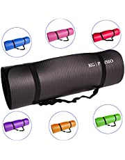 KG Physio Esterilla de Yoga Extra Grueso 12mm-con Correa de Hombro Antideslizante para fácil Transporte-Fabricado con Material NBR Esencial para Grueso Acolchado Mats