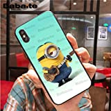 Best Quality - Half-Wrapped Case - Despicable Me Minions Luxury Unique Design Phone Cover for iPhone X XS MAX 8 7plus 5S SE 6s XR Cover - by LA Moon's - 1 PCs