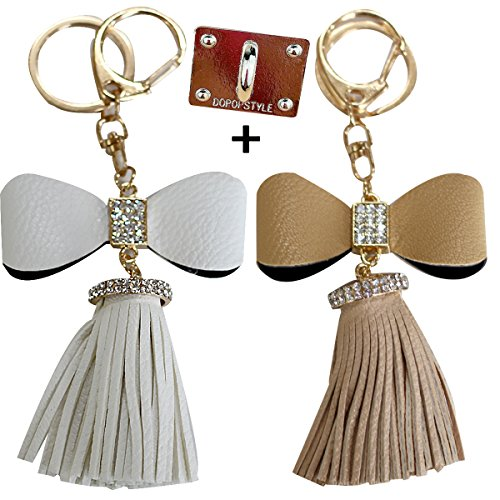 Afeel Ribbon Car key Chain Jewelry bag Keyrings for Women Decorations 2pes Mother's day mother daughter Gift