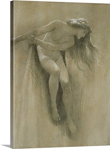 Female Nude Study (chalk on paper) Gallery-Wrapped Canvas