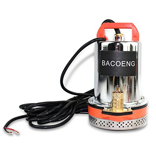 BACOENG DC 24V Farm & Ranch Solar Water Pump Submersible Well Pump 30ft Lift
