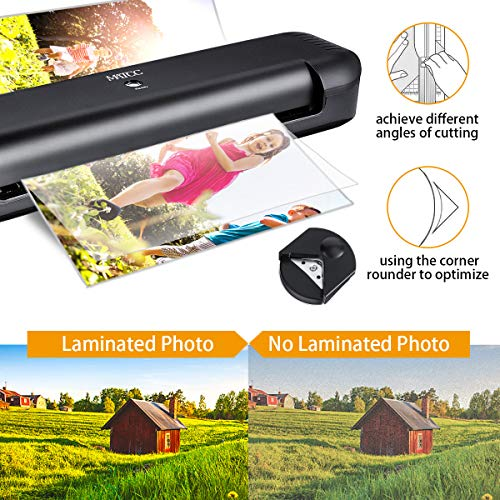 MATCC 13'' Thermal Laminator Machine for A3/A4/A6 Laminating Machine with Paper Cutter and Corner Rounder 2 Roller System Laminator Machine Faster Warm-up Quick Laminating Speed Suit for Home Art by MATCC (Image #2)